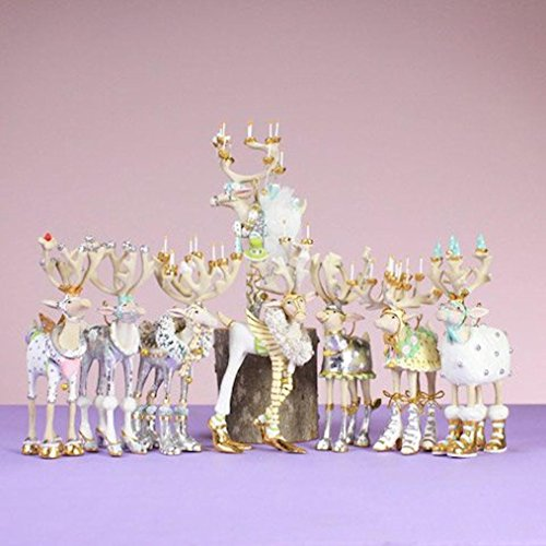 Patience Brewster Mini Moonbeam Reindeer Ornament Set 5-Inches by 3-Inches