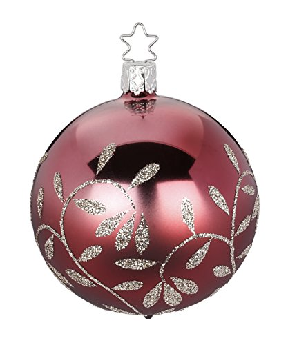 Inge-Glas Kugel Ball Vintage Lightness 20359T006 German Glass Christmas Ornament