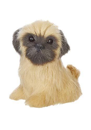 RAZ Imports Dog Figurine/Christmas Ornament – Faux Fur Pug Puppy 2.5 inch x 2.5 inch x 1.5 inch