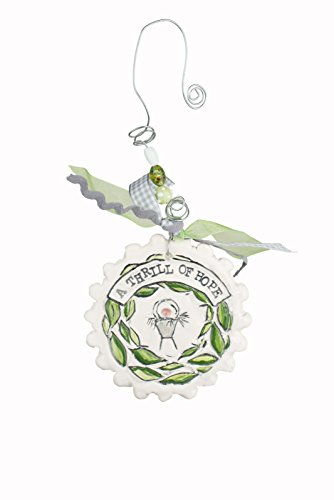 Glory Haus A Thrill of Hope Flat Ornament, Multicolor