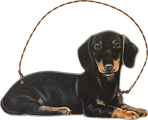 Primitives by Kathy Dachshund Hanging Ornament