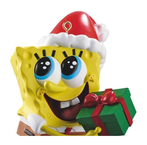 Carlton Cards Heirloom Yellow SpongeBob SquarePants with Gift Christmas Ornament