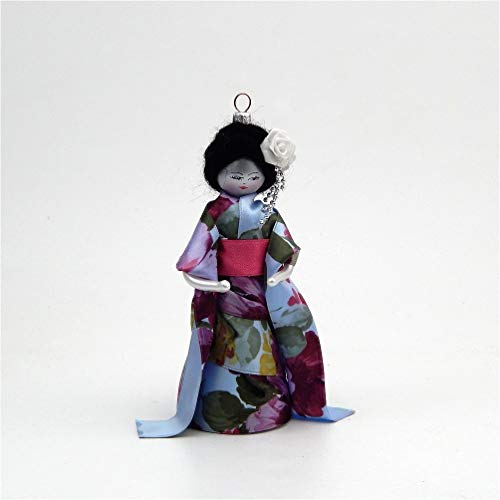 De Carlini Japanese Girl – Floral Kimono – Italian Glass Christmas Tree Ornament