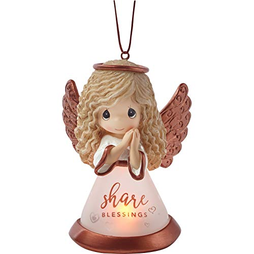 Precious Moments Share Blessings Angel LED 191433 Ornament, One Size, Multi