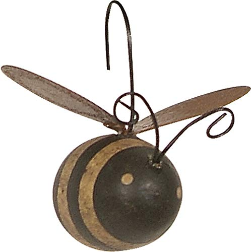 Primitives by Kathy Rustic Mini Ornament Set, Set of 12, Bee