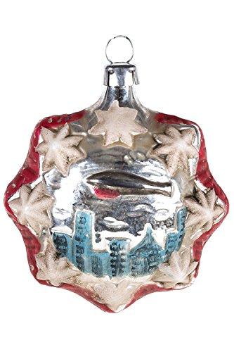 Marolin Zeppelin Airship Over New York MA2011098 German Glass Ornament w/Gift Box