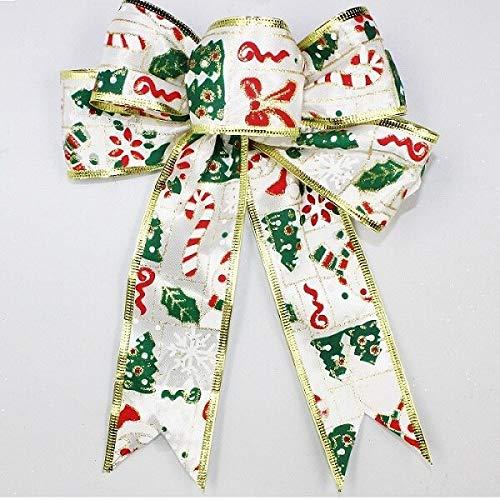 Noel Christmas Ornaments, 20x20cm Bow DIY Craft Xmas Noel Ornaments Tree Year Decor – Christmas Ornament Crafts, Christmas Ornaments Angel, Christmas Ornament Craft Kits