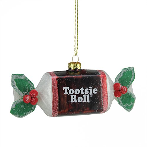 Northlight 5.25″ Candy Lane Tootsie Roll Original Chewy Chocolate Candy Glass Christmas Ornament