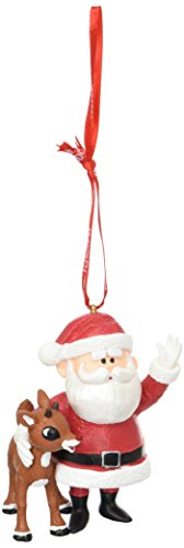 Department 56 Rudolph and Santa Hanging Ornament