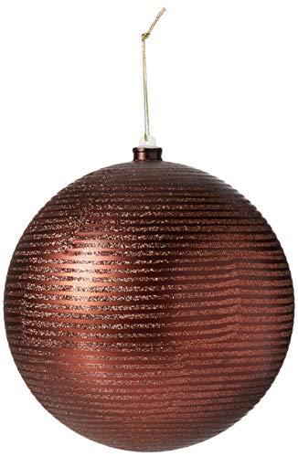 Vickerman 8″ Chocolate Matte and Glitter Finish Christmas Ball Ornament