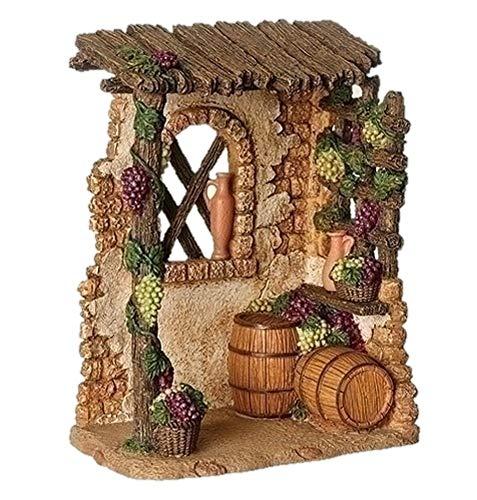 Fontanini 55602 7″ H Village Wine Shop for The 5″ Scale Nativity Scene Building Accessory