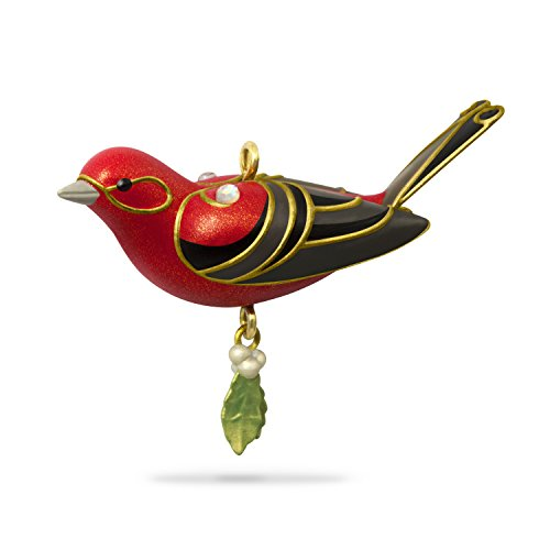 Hallmark Keepsake Mini Christmas Ornament 2018 Year Dated, Red Tanager Bird Miniature, 1.13″