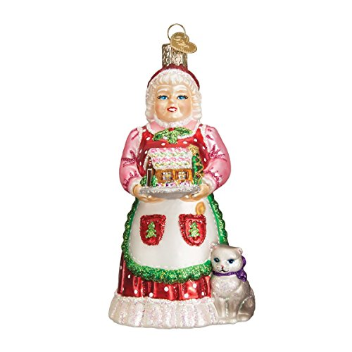 Old World Christmas Ornaments: Mrs. Claus Glass Blown Ornaments for Christmas Tree