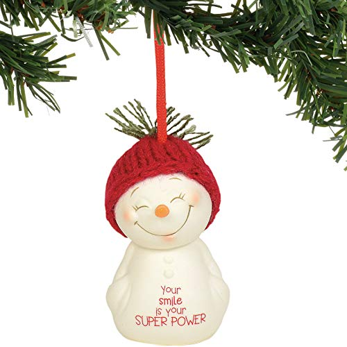 Department 56 Snowpinions Your Smile is Your Superpower Hanging Ornament, 2.75″, Multicolor