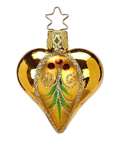 Inge Glas Heart Evergreen Heart inkagold 20001T043 German Christmas Ornament