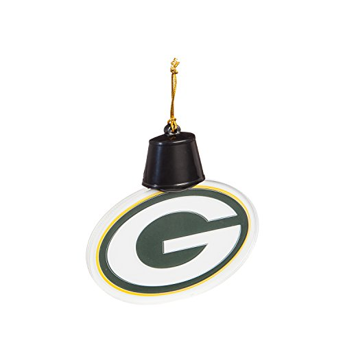 Team Sports America Green Bay Packers Radiant Lit Acrylic Team Icon Ornament
