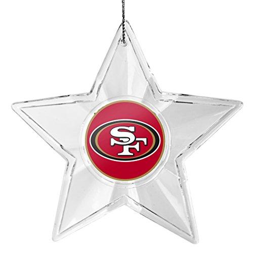 NFL San Francisco 49ers Traditional Acrylic Star Ornament