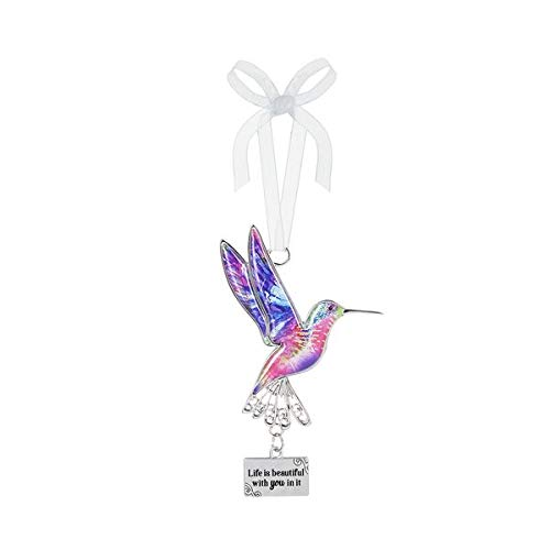 Ganz Decor Life is Beautiful Hummingbird Ornament 3.75″ H (Life is Beautiful with You in it)