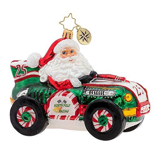 Christopher Radko Burning Rubber Racer! Christmas Ornament