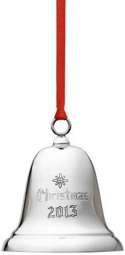 Reed & Barton Sterling Christmas Bell Ornament with 2013 Year Marked, 2-3/4-Inch