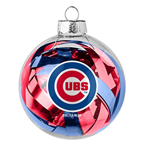 MLB Chicago Cubs Large Tinsel Ball Ornament