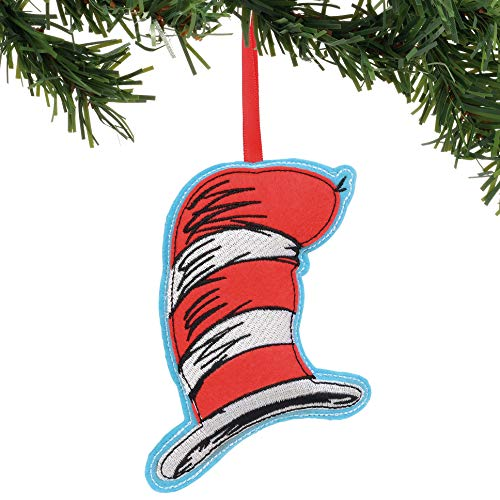 Department 56 Dr. Seuss Cat in The Hat Felt Hanging Ornament, 7.5″, Multicolor