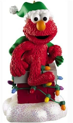 Carlton Cards Heirloom Musical Sesame Street Santa Elmo Christmas Ornament