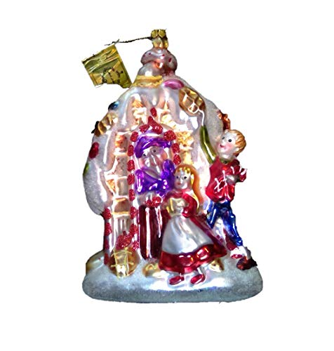 Hansel and Gretel by Mark Roberts Glass Christmas Ornament