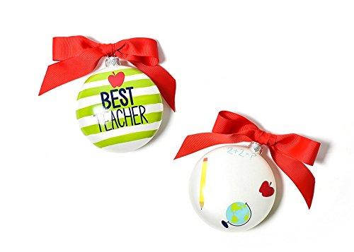 Coton Colors Best Teacher Glass Ornament