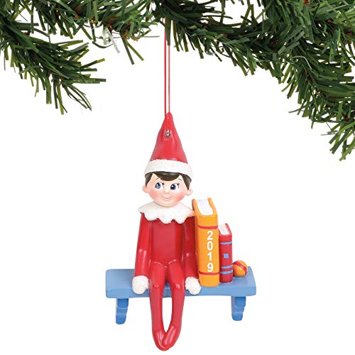 Department 56 Elf on The Shelf Sitting Hanging Ornament, 3.5″, Multicolor