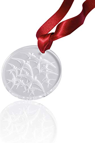 Lalique 2018 Annual Christmas Ornament, Clear Hirondelles Swallows (Frosted) #10647000