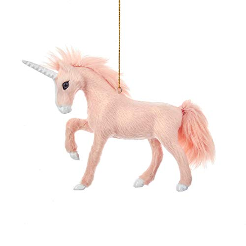 Kurt Adler 5″ FURRY PINK UNICORN ORNAMENT