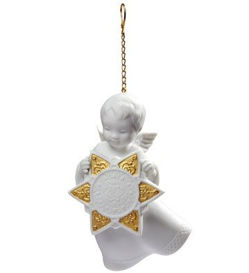 Lladro Angel With Star Ornament Re-deco