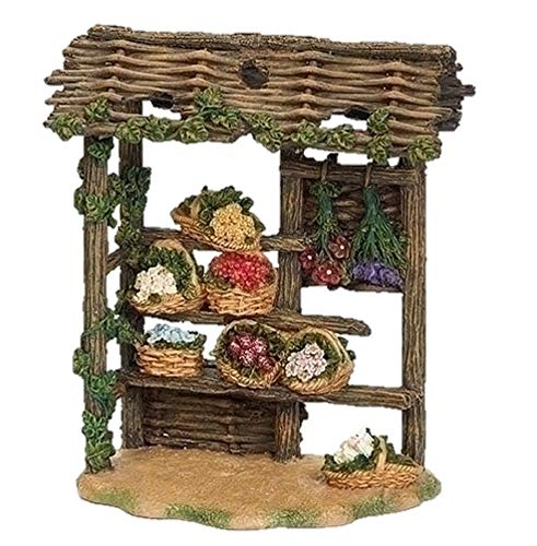 Fontanini 55606 7″ H Flower Stand for The 5″ Scale Nativity Village Building Accessory Coordinates with Girl with Flowers, Liliana