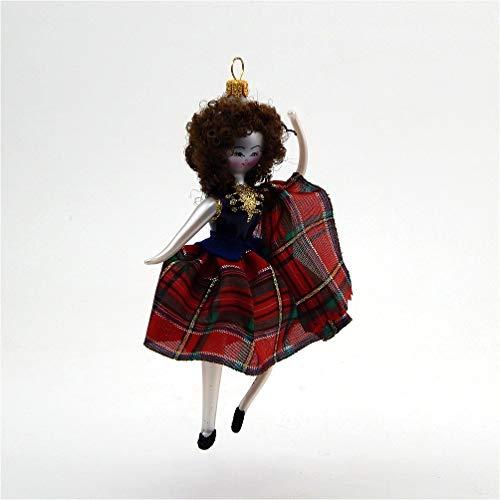De Carlini Scottish Dancer – Kilted Girl – Italian Glass Christmas Tree Ornament
