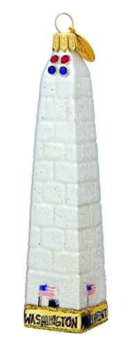 Landmark Creations' Washington Monument with Crystal Detailing Eurpean Glass Christmas Ornament