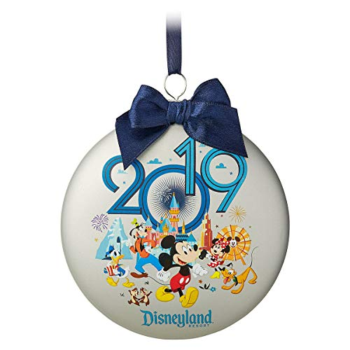 Theme Parks Disneyland Resort 2019 Mickey Mouse and Friends Glass Disk Ornament