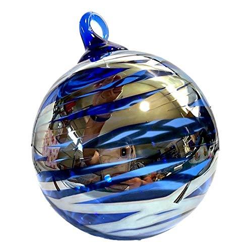 Glass Eye Studio Cobalt Blue Silver Solstice Ornament
