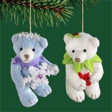"Carlton Heirloom ""Bear-y Christmas"" 2006 Christmas Ornament #CXOR-091P"