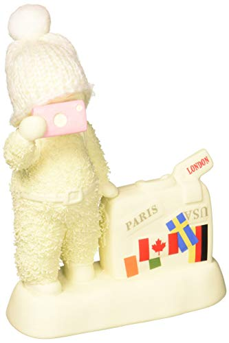 "Department 56 Snowbabies ""Sightseeing"" Porcelain Figurine, 4.5″"