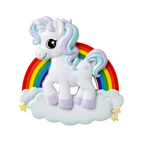 Personalized Unicorn Christmas Tree Ornament 2019 – My Fairy Pink Pony Rainbow Adventure Horn Wings Hooves Moon Star Gift Baby Girl Boy Dreamer Fantastic Ride Pixie Magic – Free Customization