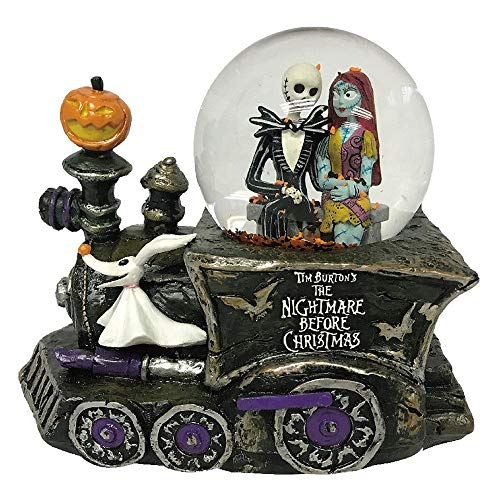 The Nightmare Before Christmas Jack Skellington, Sally and Zero Light Up and Musical Waterglobe