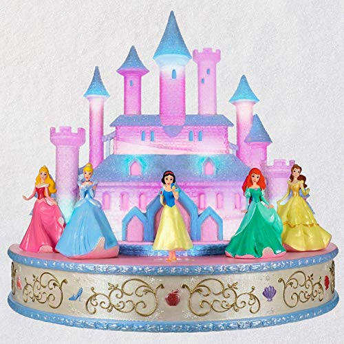 Hallmark Keepsake Christmas Ornament 2019 Year Dated Disney Live Your Story Interactive Castle Musical Tabletop Decoration with Light (Plays Princess's Signature Songs)