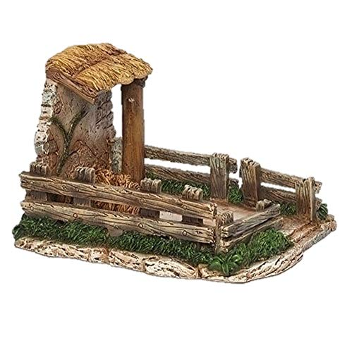 Fontanini 55605 5.5″ H Sheep Shelter for The 5″ Scale Nativity Sheep Village Building Accessory Sheep Sold Separately