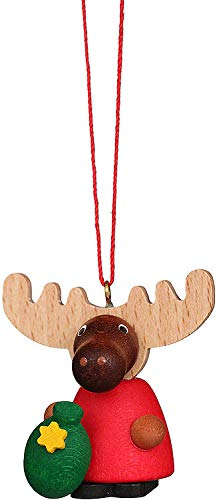 Christian Ulbricht Tree Ornament – Moose Santa – 4,2 cm / 1.7 inch