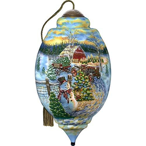 Ne'Qwa Limited Edition Trillion Snowman Christmas Tree Farm Ornament, Multi