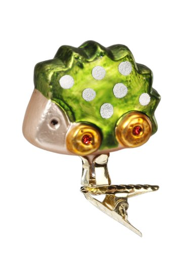 Inge Glas Clip-On Favorite Green Toy 1-088-13 German Glass Christmas Ornament
