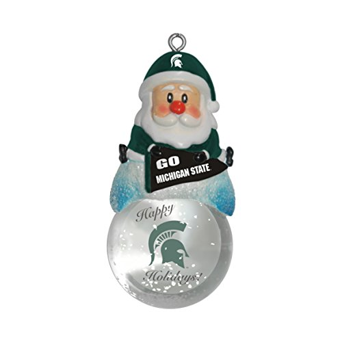 NCAA Michigan State Spartans Snow Globe Ornament