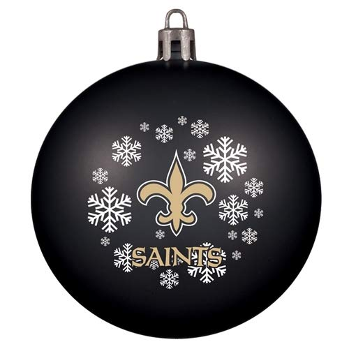 Topperscot New Orleans Saints Snowflake Red Shatter Proof Ball Ornament