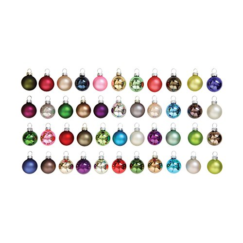 Creative Co-Op XM0659 Set of 54 Bright Multicolor Round Glass Ornaments